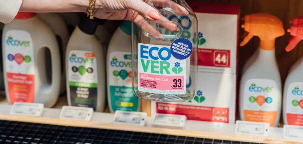 Accompagnement vers la distribution vrac de la marque Ecover