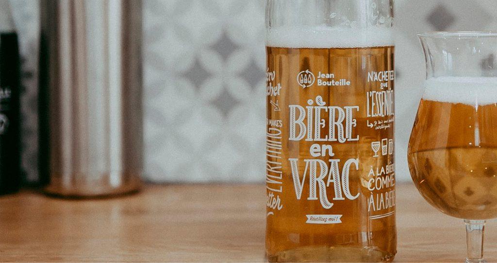 Réemploi des bouteilles de bière grâce à Jean Bouteille