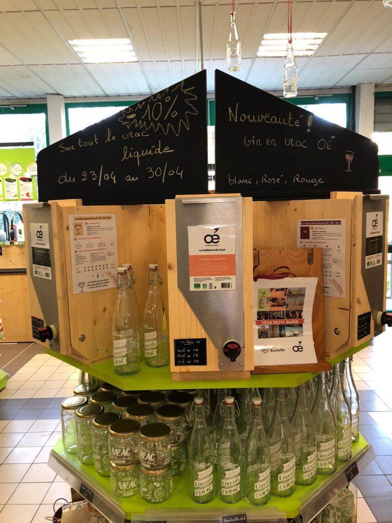Harmonie nature biomonde magasin bio à Lille propose les 3 cuvées bio en vrac Oé for Good