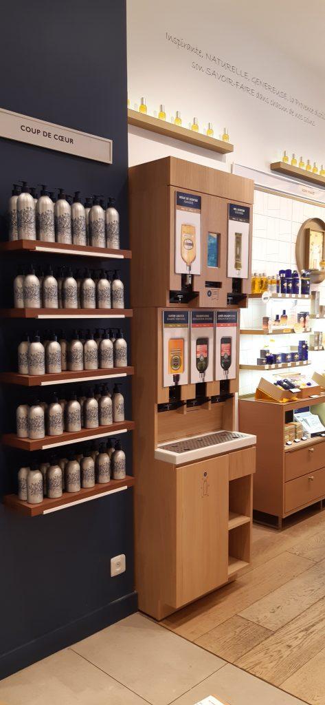 Jean Bouteille a développé une solution de distribution vrac pour les produits cosmétiques de L'Occitane