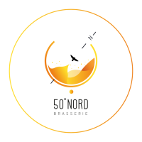 Logo brasserie 50 degrés Nord à Douai