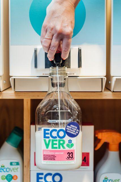 Projet Vrac mené pour la marque ECOVER qui se lance dans la vente en vrac grâce à l'accompagnement de Bulk For Brands