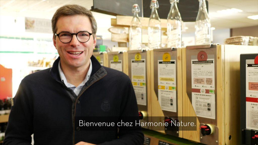 Jean Bouteille et Harmonie Nature Biomonde une histoire d'amour pour le vrac qui dure