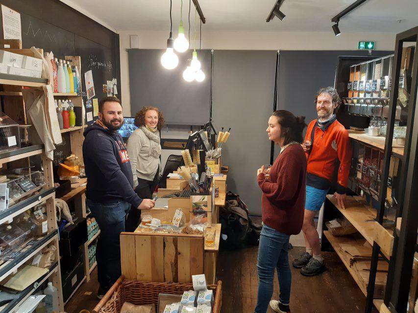 Notre conseiller zéro déchet Guillaume rend visite à notre épicerie vrac partenaire Mme Bio et M. Vrac à Toulouse
