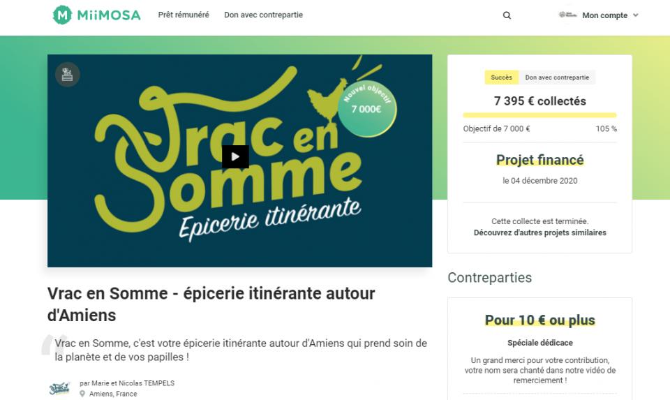 Campagne de crowdfunding dans le cadre de l'appel à projets Tous au Vrac 2021
