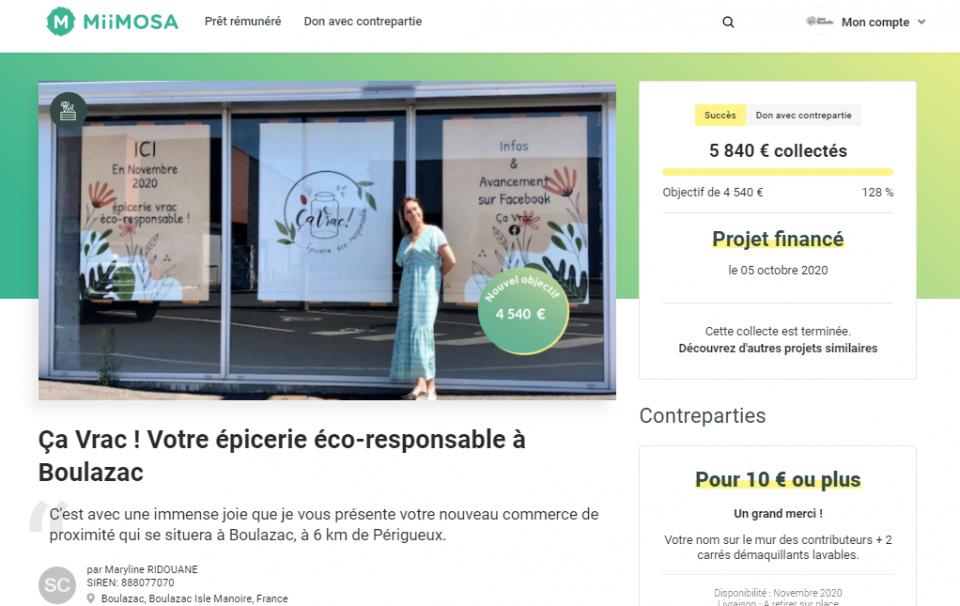 Campagne de crowdfunding dans le cadre de l'appel à projet tous au vrac 2021
