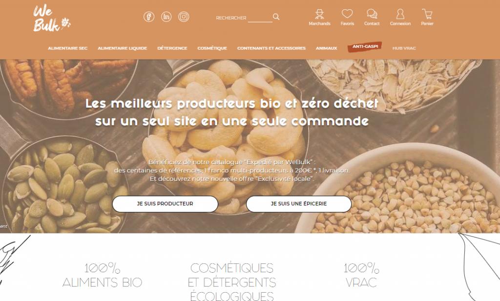 Co-création de Webulk, la market place vrac