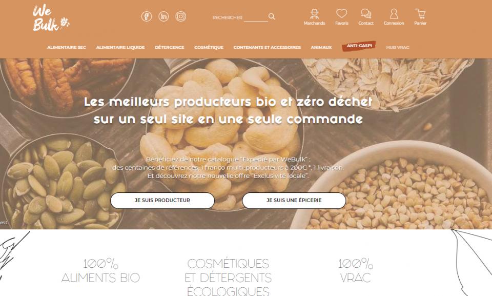 We Bulk la marketplace du vrac co-créée par Jean Bouteille et Ultéria