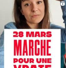 Girl Go green parle de la Marche pour le climat sur instagram