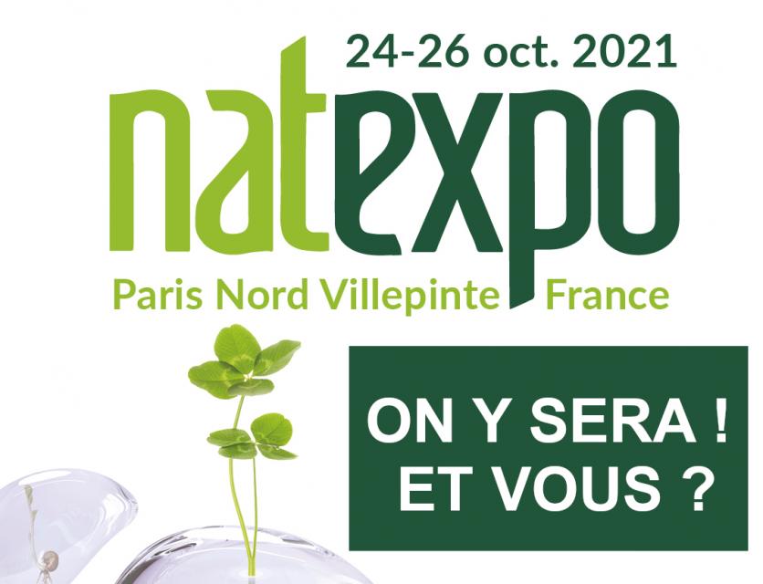 Venez nous rencontrer à Natexpo 2021, salon international des produits Biologiques